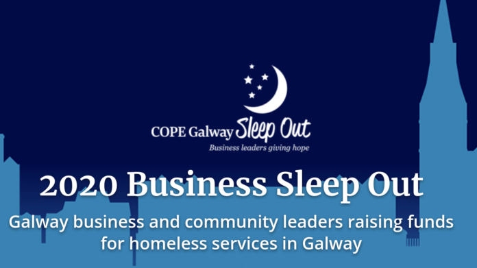 galway daily news sleep out cope galway shop street business