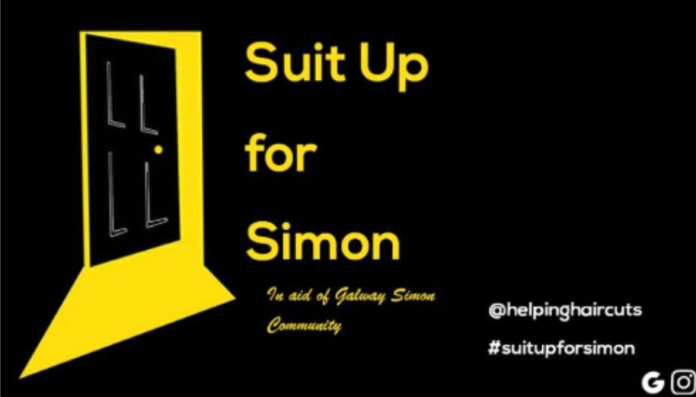 galway daily news helping haircuts suit up for simon