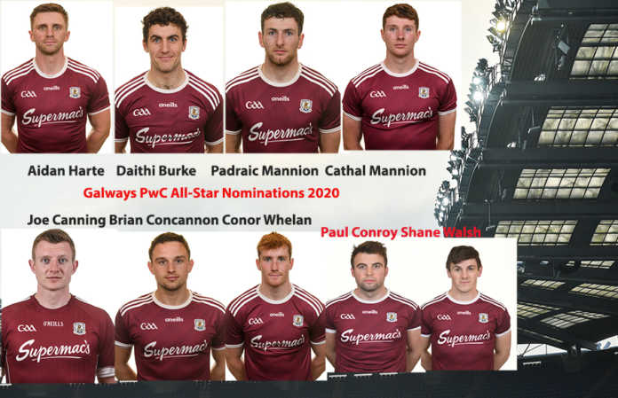 Galway Daily sport Nine Galway players nominated as PwC football and hurling All-Stars
