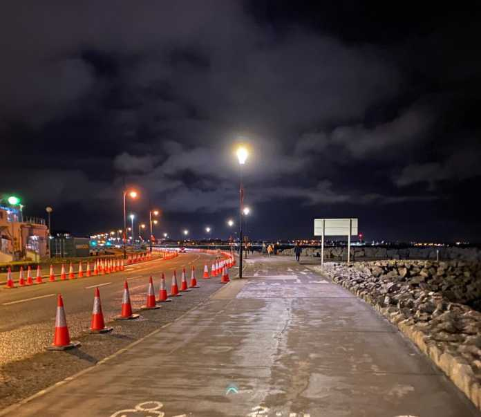 Galway Daily news Salthill Promenade lights up clean and green