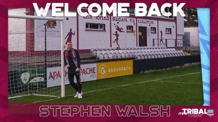 Galway United sport Galway United confirms return of Stephen Walsh