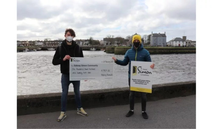 Galway Daily news Student duo raise over €1,700 for Galway Simon Community