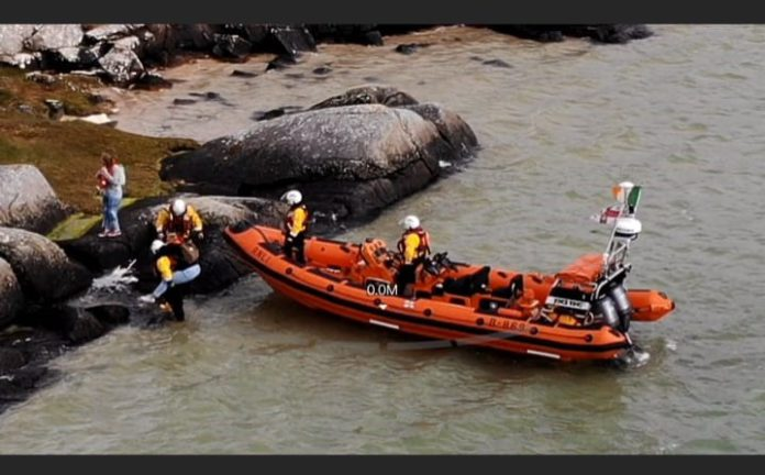 Galway Daily news Clifden lifeboat rescues two people stranded on Omey Island