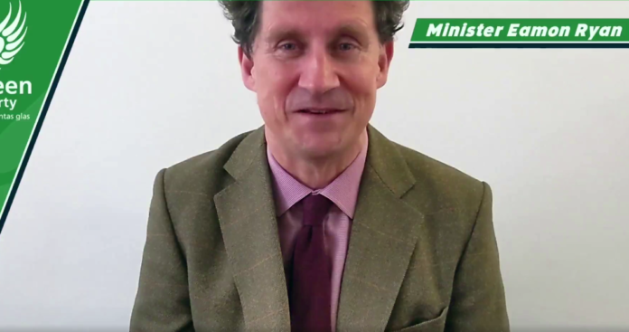 galway daily news minister eamon ryan green party light rail