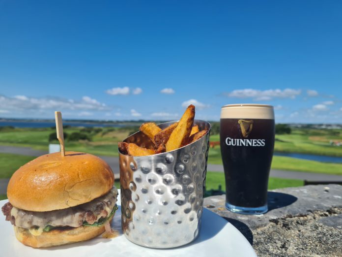 Galway Daily food Dinner with a world class view at Galway Bay Golf Resort