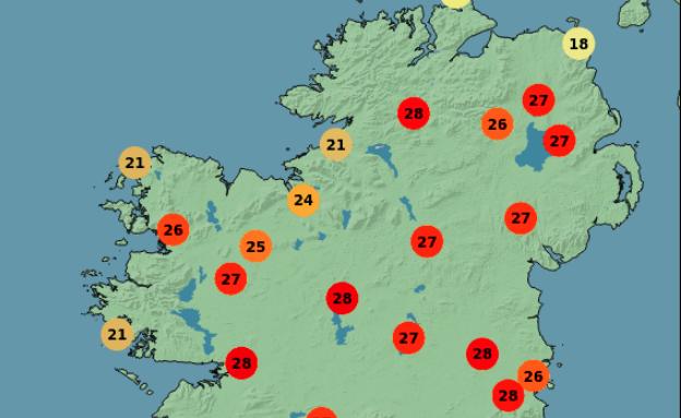 galway daily news heatwave ireland alert by met éireann