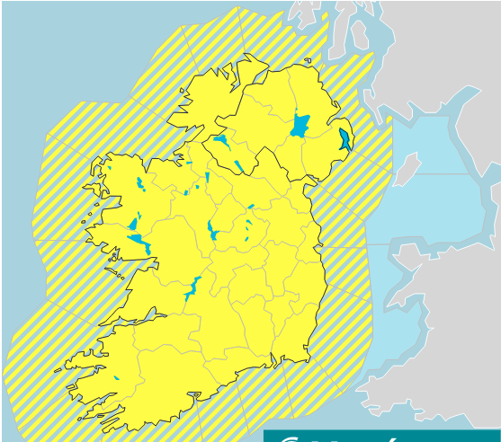 Galway Daily weather Weather warning extended into Thursday night
