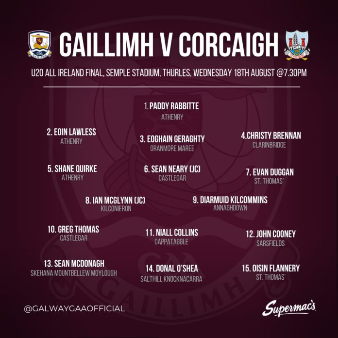 Galway Daily sport Galway U-20 team named for All-Ireland hurling final
