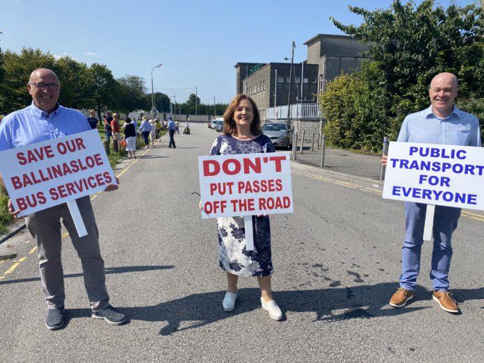galway daily news ballinasloe protest bus éireann